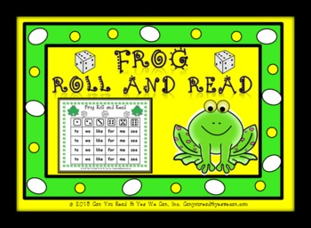 Frog Roll and Read Sight Word Center