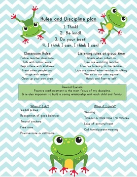Frog Rules and Discipline Plan