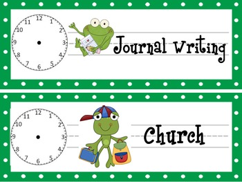 Frog Schedule Cards-Add On Package