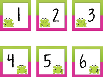 Frog Schedule Cards & Calendar Numbers/Months