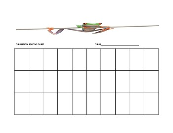 Frog Seating Chart Template for the Music Classroom