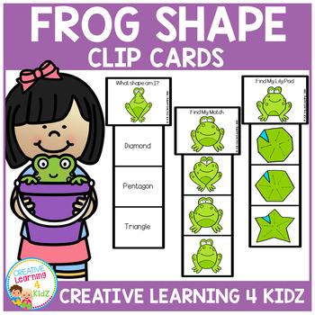 Frog Shape Clip Cards