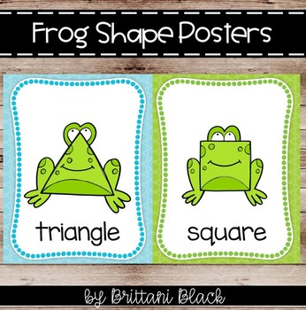 Frog Shape Posters