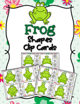 Frog Shapes Clip Cards