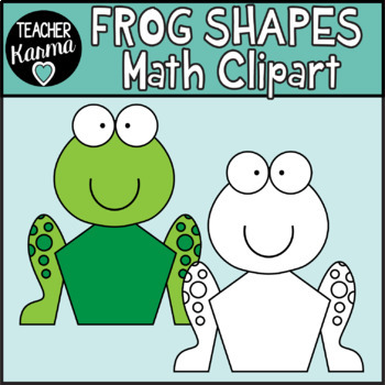 Frog Shapes Math Clipart
