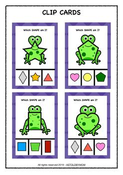 Frog Theme Shape Sorting Puzzle - NO PREP Math Activity - Frog Shape POSTERS