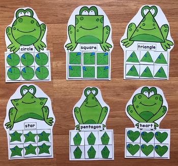 Frog Shapes Sorting Mats