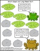 Literacy Center - Frog Short Vowel and Long Vowel