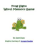 Frog Sight Word Memory