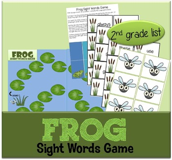 Frog Sight Words Game (2nd grade Dolch list)