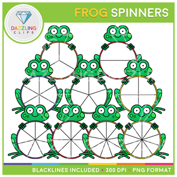 Frog Spinners Clip Art