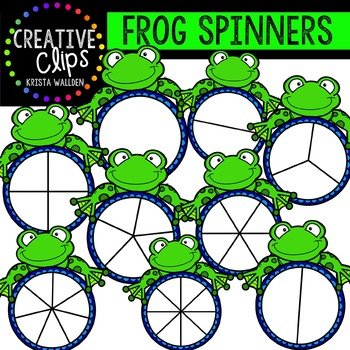 Frog Spinners {Creative Clips Digital Clipart}