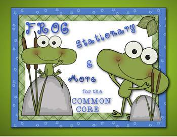 Frog and Toad STATIONARY PACK by Ms. Lendahand:)