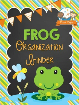 Frog Student Organization and Parent Communication Binder {personalize it}