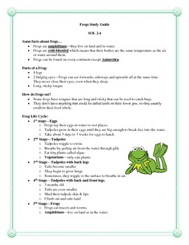 Frog Study Guide