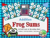 Frog Sums - Multi-Digit Addition {2 & 3 digit addends}