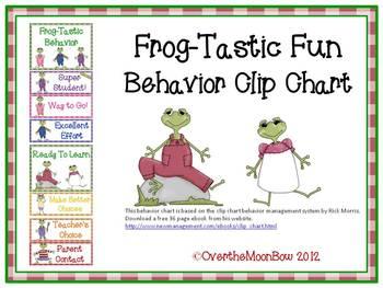 Frog-Tastic Behavior Clip Chart
