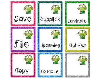 Frog-Tastic Labels