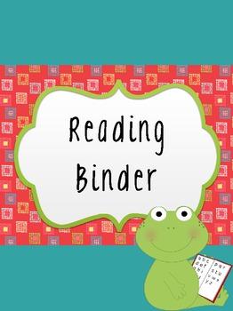 Frog Teacher Binder Covers