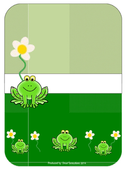 Frog Teacher Binder Set Editable