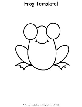frog template by the learning cupboard teachers pay teachers