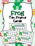 Frog Ten Frame Cards