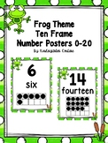 Frog Ten Frame Number Posters 0-20