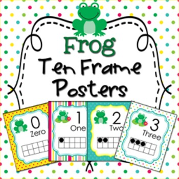 Frog Ten Frame Posters - 0 to 20