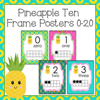 Pineapple Ten Frame Posters - 0 to 20