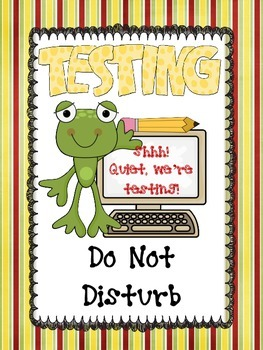 Frog Testing Sign