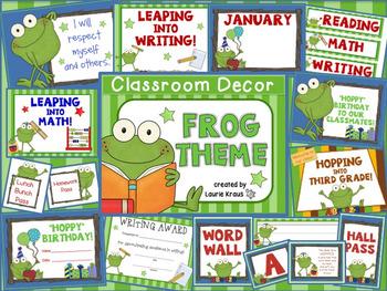 Frog Theme - Classroom decor