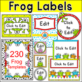 Frog Theme Classroom Labels and Templates - Editable Classroom Decor