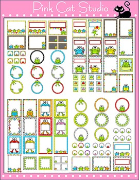 Frog Theme Classroom Editable Labels and Templates - Editable Classroom Decor