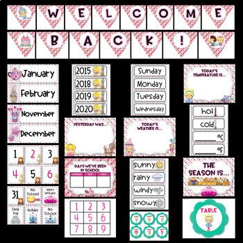 Fairy Tale Theme Bundle EDITABLE (Fairytale Classroom Decor)