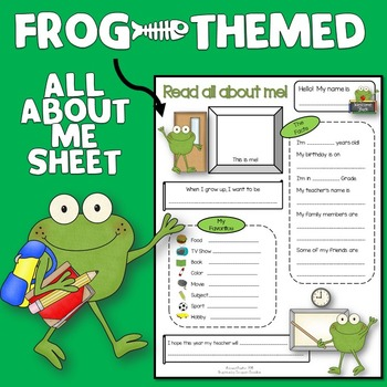 All About Me Frog Theme