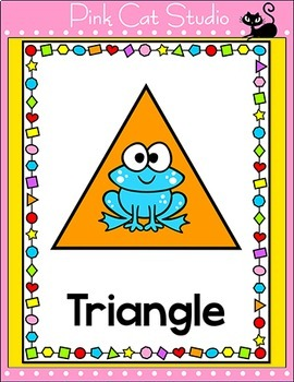 Frog Theme Shapes Posters