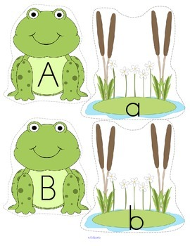 Frogs Alphabet Upper and Lower Case Match Center