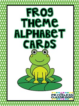 Frog Theme Alphabet Cards