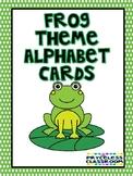 Frog Theme Alphabet Cards