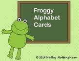Frog Theme Alphabet Flash Cards Froggy Letters