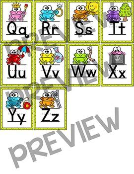 Alphabet Posters - Frog Theme Classroom Decor