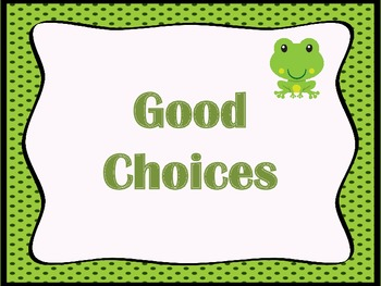 Frog Theme Behavior Chart