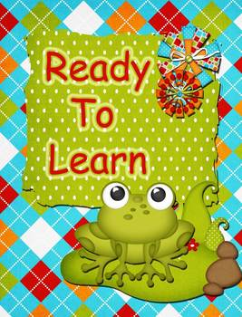 Frog Theme Behavior Cip Chart System