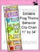 Frog Classroom Decor Behavior Clip Chart - Classroom Management Tool