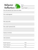 Frog Theme Behavior Reflection
