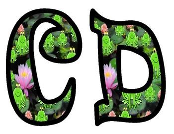 Frog Theme Bulletin Board Alphabet Letters