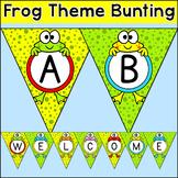 Frog Theme Bunting Set - Editable Frog Decor