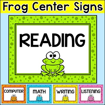 Frog Theme Center Signs