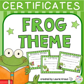Frog Theme Certificates