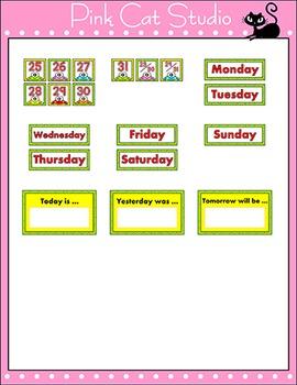 Monthly Calendar Set - Frog Theme Decor